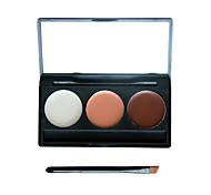 3 cores sombra da composição camuflar corretivo facial paleta neutra creme