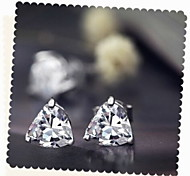 Lovely Heart Zircon Alloy Earrings