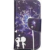 Child Dandelion Painted PU Phone Case for ipod touch5/6