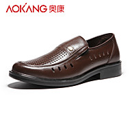 Aokang Men's Leather Loafers Brown