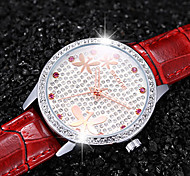 SKONE Crystal Rhinestone Fashion Watches Womens Leather Quartz Mvmt Analog Ladies Casual Dress Wrist Watch Cool Watches Unique Watches