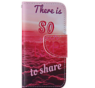 The New Red Sea PU Leather Material Flip Card Cell Phone Case for iPhone 5 /5S