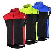 Arsuxeo Flashlight Windproof Vest Sports Cycling Running Sleeveless Windcoat  MTB Bicycle Windbreaker Sportswear