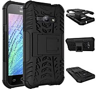 Für Samsung Galaxy Hülle Stoßresistent / mit Halterung Hülle Rückseitenabdeckung Hülle Panzer PC Samsung J2 / J1 Ace