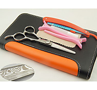 5.5 inch Damascus Pattern Luxury Hair Shears with free gift razor & clip & comb, High Quality Hairdresser Gift Scissors