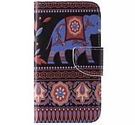 Elephant Painted PU Phone Case for Galaxy Grand Prime/Core Prime/J5/J1/J1 Ace/J2