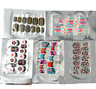 5x12PCS Mixed 3D Full Nail Stickers 11.5x7CM