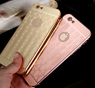 New Simple Quilted Metal Frame Metal Back Phone Case for iPhone 6/6S (Assorted Colors)
