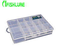 Afishlure Fishing Tackle Boxes 14 Grids Blade Lure Box Waterproof 1 Tray 18.5cm * 13cm * 3.5cm Hard Plastic Material