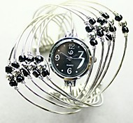 Black beaded bracelet watch interleaving