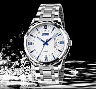 Business Calendar Watch Men Strip Genuine Fine Waterproof Hand Wrist Watch Cool Watch Unique Watch Fashion Watch