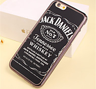 Jack Daniels Pattern Plating TPU Phone Case for iPhone 6/6S