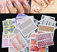 30Pcs Foreign Hot Manicure Stickers Wholesale Nail Stickers Decals Manicure Watermark Set Of 30 Mixed