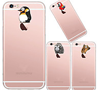 MAYCARI®Animals' World Soft Transparent TPU Back Case for iPhone 6/iphone 6S(Assorted Colors)