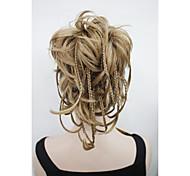 un nouvel éclairage de la mode fraise blond fils pliables court postiche tresses minuscules griffe pince queue de cheval 0288a 19