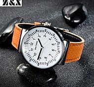 Men's Fashion Personality Leather Quartz Analog Bracelet Watch(Assorted Colors) Cool Watch Unique Watch