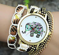 Ladies' European Style Fashion Color Elephant Wrist Watch Bracelet Watch