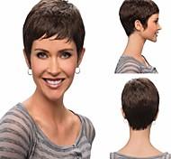 venta caliente atractiva de la moda de color negro para mujer peluca corta