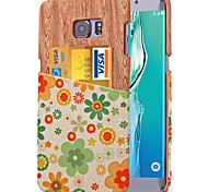 For Samsung Galaxy Note Card Holder Case Back Cover Case Flower PU Leather Samsung Note 5 / Note 4 / Note 3
