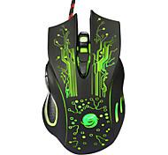 professionale di alta qualità ha fissato il mouse di gioco 7 pulsante portato usb ottico metallico del computer mouse del mouse