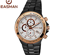 EASMAN Men Sport Watches Brand Date Quartz Watch Waterproof Brush Steel Chronograph Watches Men Sports Watches Cool Watch Unique Watch