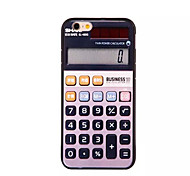 The Calculator Pattern Acrylic Design Back Cover Case for iPhone6/6S Plus