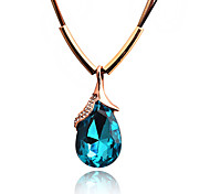 Hot Fashion Chic Water Drop Gem Statement Necklace Pendant Charms Romantic Jewelry