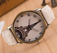 Woman Leisure Bronze Retro Canvas Wrist  Watch