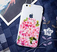 Pink Rose Girl Love Elegant Flower Peach Blossom Pattern TPU Soft Case for iPhone 6/iPhone 6S