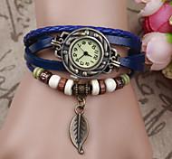 Korean Style Leaf Shape Alloy Student Bracelet Watch(Ten Colors)(1Pc) Cool Watches Unique Watches