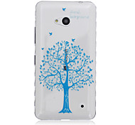 Blue Tree Pattern Transparent TPU Soft Case for Nokia 640