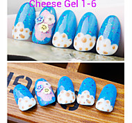 1PCS Cheese Gel Nail Polish UV Gel 24 Colors 12 ml Gel Long Lasting Nail Polish 1-6