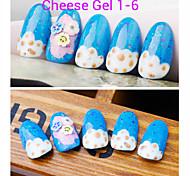 1pcs queso de uñas de gel polaco ULTRAVIOLETA del gel de 24 colores 12 ml de gel de uñas de larga duración polaco 01.06