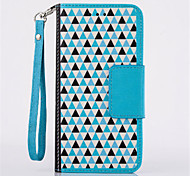 Leather Flip Wallet Card Slot Bracket Hang Rope Phone Case For iPhone 6(Assorted Color)