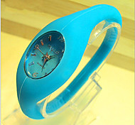 Casual Fashion Jelly Silicone Quartz Needle Negative Ion Watch