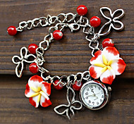 Fashion flowers bracelet watch