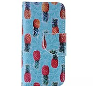 Pineapple Pattern Cell Phone Leather For iPhone 5/5S