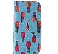 ananas modèle en cuir de mobile pour iPhone 5 / 5s