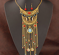 European Style Fashion Owl Tassel Temperament Necklace Earring Sets