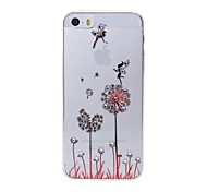 Latest Dandelion Pattern Swarovski Diamond High Quality Laser Relief Touch Phone Case for iPhone 5 / 5S