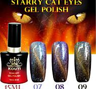 1pcs occhi di gatto stellato gel di colore 12colors 15ml di lunga durata nail polish 7-9