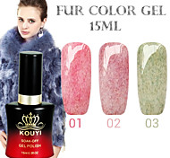 1PCS KOUYI Fur Color Gel 12Colors 15ml Long Lasting Nail Polish 1-3
