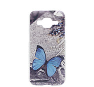 Blue Butterfly Painted PC Phone Case for Galaxy Grand Prime G530/Core Prime G360/On5/On7