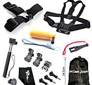 Accessori GoPro Montaggio / Con bretelle / Sacchetti / Vite / Reinigungs-Tools / Boje / Accessori Kit / Impugnature / Chiavi inglesi Per