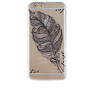 The Maple Leaves Black Pattern Transparent Phone Case Back Cover Case for iPhone6/6S