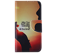 The New Sunset PU Leather Material Flip Card Cell Phone Case for iPhone 6 /6S