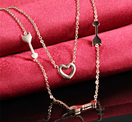 An Arrow Through Heart Ms Elegant Temperament Necklace
