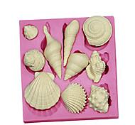 3d морских животных оболочки силикон помадная формы торта формы шоколада см-091