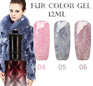 1PCS ANA Fur Color Gel 12Colors Long Lasting Nail Polish 4-6