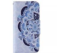 blu e bianco in pelle telefono cellulare modello per il iphone 5 / 5s